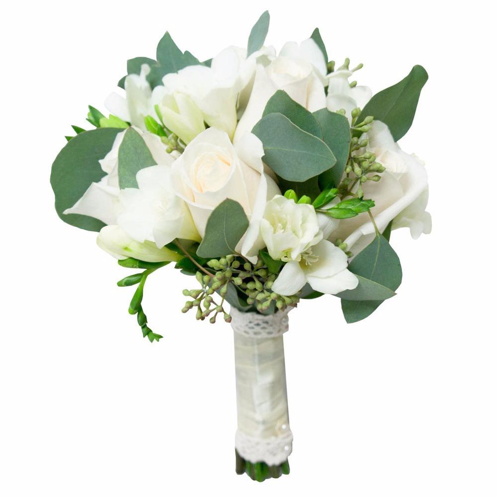 Из белых роз и фрезий