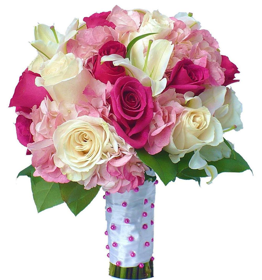 Из роз, гортензии и лилии