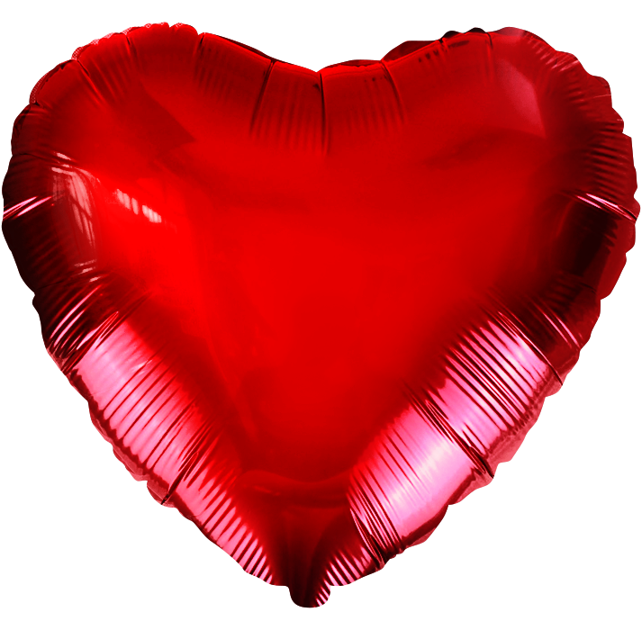 """Фольгированный шарик """"Красное сердце"""""""